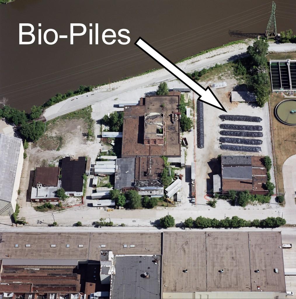 Aerial of Bio-piles