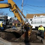 Over excavation of contaminated soil in Rock Island, IL.